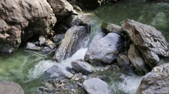 Mountain river in a forest Stock Footage