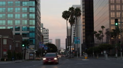 Evening Traffic in Beverly Hills (4K) Stock Footage