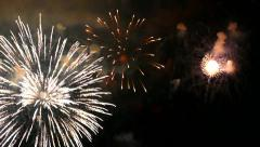 Fireworks On Water - 04 - Fast Loop + Sound Stock Footage