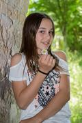 Very lovely young girl of 12 years old Stock Photos