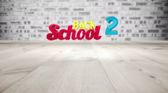 Back to school graphic falling with pencils Stock Footage