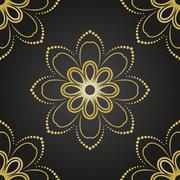 Floral Fine Seamless Vector Pattern - stock illustration