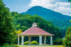 scenery around lake lure north carolina - stock photo