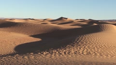 Sand dune in the desert in Morocco - stock footage