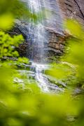 hickory nut waterfalls during daylight summer - stock photo