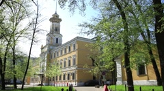 Central museum Ministry of Internal Affairs of Russia. Spring. Stock Footage