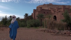 Kasbah in Morocco with the Tuareg Stock Footage