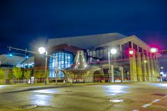 memphis tennessee city streets at night - stock photo