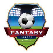 Fantasy Soccer Football Emblem Illustration Stock Illustration