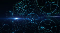 Cogs and wheels turning Stock Footage