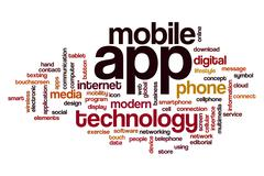 App word cloud concept Stock Photos