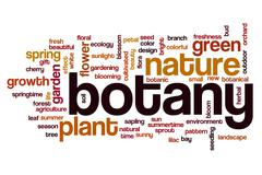 Botany word cloud concept - stock photo