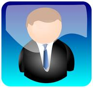App with user icon Stock Photos