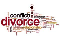 Divorce word cloud concept Kuvituskuvat