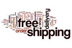 Free shipping word cloud concept Stock Photos