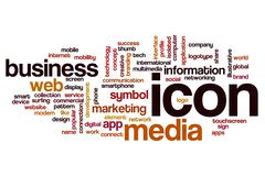 Icon word cloud concept - stock photo