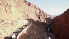 Cars on a Freeway in the Mountains in Morocco - stock footage