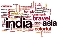 India word cloud concept - stock photo