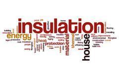 Insulation word cloud concept Stock Photos