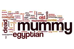 Mummy word cloud concept - stock photo