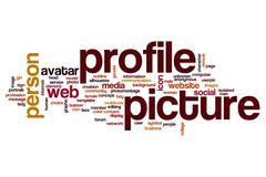 Profile picture word cloud concept Stock Photos