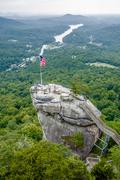 Lake lure and chimney rock landscapes Stock Photos