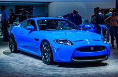MOSCOW, RUSSIA - AUG 2012: JAGUAR XKR-S 3RD GENERATION presented Stock Photos