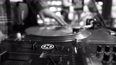 Dj scratching vinyl Stock Footage