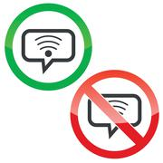 Wi-Fi message permission signs Stock Illustration