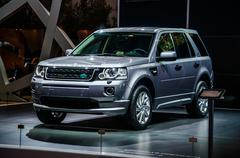 MOSCOW, RUSSIA - AUG 2012: LAND ROVER FREELANDER II presented as - stock photo