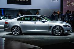 MOSCOW, RUSSIA - AUG 2012: JAGUAR XFR presented as world premier Stock Photos