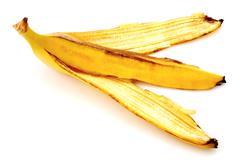 Banana peel isolated on white Kuvituskuvat