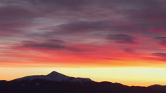 Sunset timelapse in mountains with colourful clouds Stock Footage