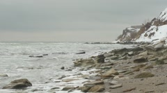 The tide on the coast. - stock footage