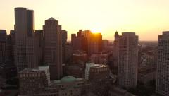 Boston Aerial - stock footage