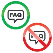 Stock Illustration of FAQ message permission signs