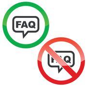 FAQ message permission signs Stock Illustration