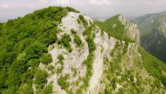 Beautiful Epic Aerial Shot Fly Over Cliffs Mountains High Cliffs Rocky Stony Stock Footage