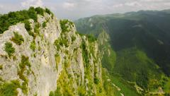 Epic Aerial Fly Over Cliffs And Mountains High Altitude Beautiful Mountain Range Stock Footage