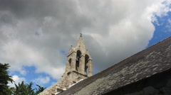 Church tower against blue sky Stock Footage