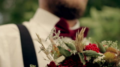 The groom is waiting for the bride HD video 1080p Stock Footage