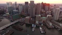 Boston Aerial Stock Footage