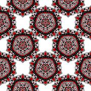 Seamless pattern of colored symmetrical circular mandalas. Stock Illustration