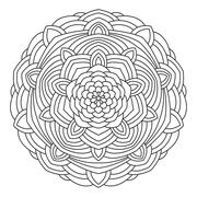 Circular symmetric ethnic pattern. Stock Illustration