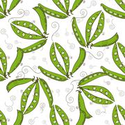 Seamless repeating pattern of peas Stock Illustration
