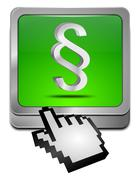 Law paragraph button with cursor - stock photo