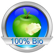 Button 100% Bio Stock Photos