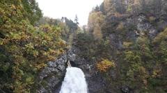 Cascading Falls of Foyers, Loch Ness, Scotland Stock Footage