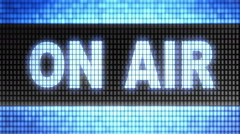 """""""on air"""" on the screen. Looping. Stock Footage"""
