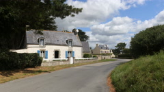 Old, attractive house in French village Stock Footage